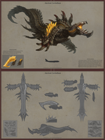 Ancient Leviathan-Monster Hunter Inspired Concept by VNC-Children