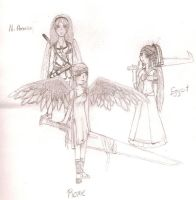 some angels. by ViridiVulpes