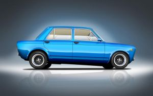 My Fiat 128 Tooned by zeba5