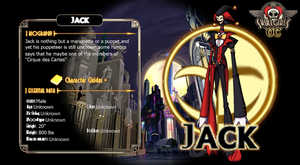 SkullGirls OC Jack character profile by NIGHTMAREZENUKI