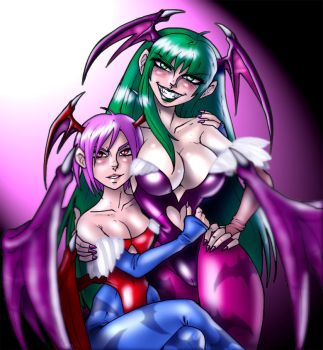 Morrigan and Lilith by CerberusLives