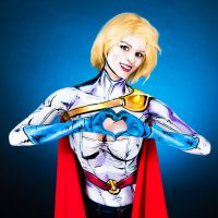 Powergirl Bodypaint by KayPikeFashion