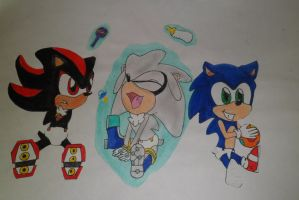 shadow,silver,sonic babys by shadowharley98