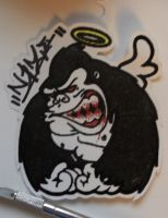 Gorilla Sticker by KrylonMonster