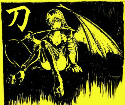 Yellow Wing Demon by WhiteBoneDemon