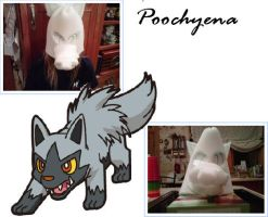 Poochyena furry in progress by aquaheartthecat