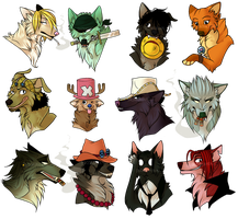 One Piece Canines by DoctorCritical