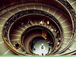 Vatican Staircase by Captured-Being