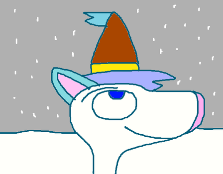 Wizard Cat Princess Watching The Snow Fall by Wolf492