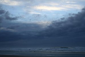 seascape 04: clouds at dusk by cyborgsuzystock