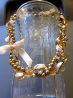 Champagne Gold Woven Necklace by ValkyrieOfODIN
