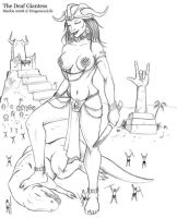 The Deaf Giantess 04 by DragonessLife