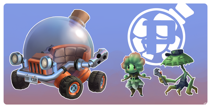 Potted Plant Kart Racer- Pearls by Smearg