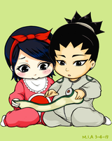 Babies and Onesies: Uchiha Sarada + Nara Shikadai by I-am-M-i-A