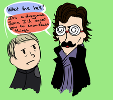 The art of disguises - Sherlock BBC by UntitledTurtles