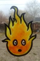 Calcifer fake glass~ by AstaraBriarart