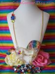 GIANT Rainbow Unicorn Necklace by lessthan3chrissy