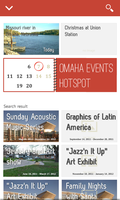 Omaha Events Hotspot ANDROID User Interface by tihoroot