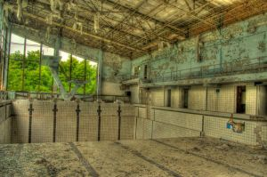 Pripyat Pool HDR by JaanusJ