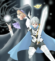 Hetalia - Black Mage and White Knight by Mi-chan4649