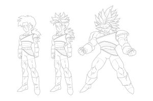Kale DBZ OC Lines :Commission: by moxie2D