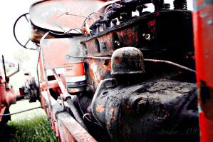 Tractor Of Memories - Lomo by soldierofsolace