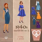 1940s Fashion Paper Dolls Dollys and Friends by BasakTinli