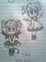 Chibi Angel and Devil by FinnishGirl97