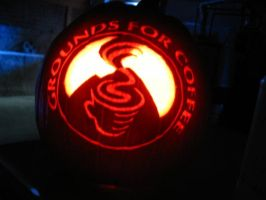 Grounds For Coffee - 2009 by SmithPumpkinCarver