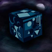 Cube of Blues by A-Pancake
