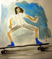long skateboard by Karantinos