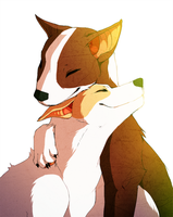 keihound and spuds mackenzie by AtomicFishbowl
