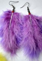 violet earrings by K-O-Photography
