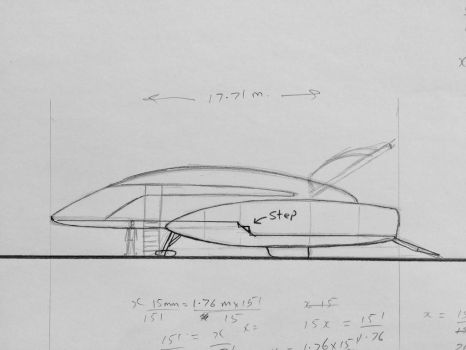 Space Runabout side elevation rough sketch by JamesF63