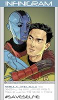 Nebula And Sulu (#saveSelfie) by kinjamin