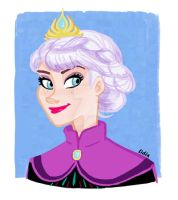 Elsa color Sketch by buttercupLF