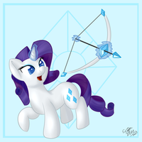 Rarity - Bow by extreme-sonic