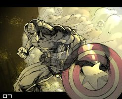 MH Captain America Color by Fpeniche