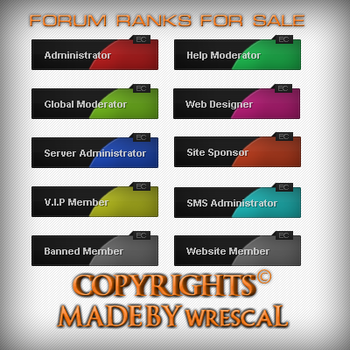 [For Sale] Forum Ranks by wrescaL