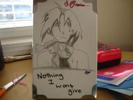 Edward on a box XD Front by fallenangelunderice