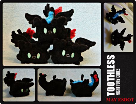 Toothless Tsum Tsum: HTTYD Magnetic Plush by MayEsdot