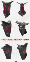 TACTICAL SCOUT SHIP by pixelbudah