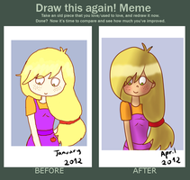 Draw this again meme - My improvement. by dinosauriomutante