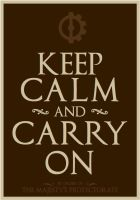 Keep Calm and Carry On by tharook