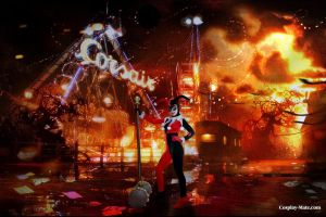 Harley Quinn doing a mayhem by pgmorin