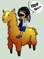 llama and me ouo by LittleTreeHugger