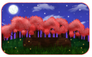 Sakura Night Field by NommieCow