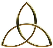 Metalic Triquetra - Gold by Rae134
