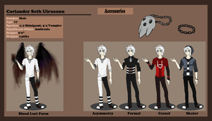 :Coriander Uirusonu: Reference Sheet 2013: by Vinabe