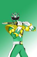Green ranger color by Scribbes